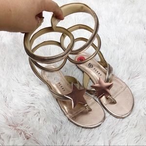 Katy Perry | wrap calf star sandals gold ⭐️ Hayley